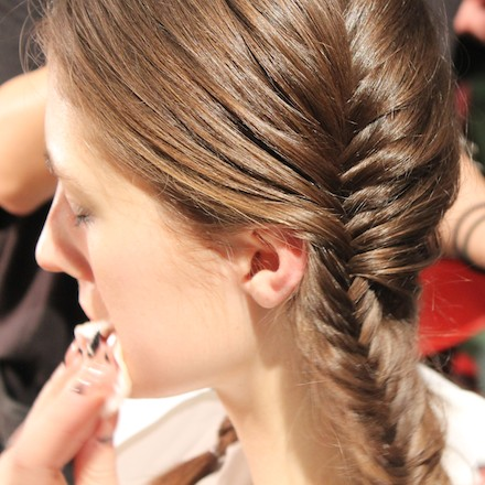 Christian Siriano hair fall 2013 by Aveda