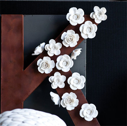 white flower magnets