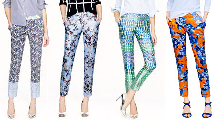 J.Crew Collection Cafe Capri pants come in a wide variety of artsy prints