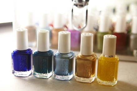 essie nail polishes used in the manicure