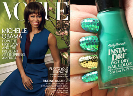 Michelle Obama Covers Vogue, St. Patrick's Day Nail Art