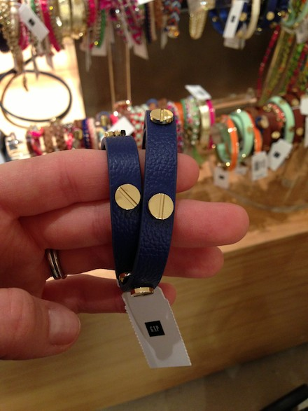 Gap leather wrap bracelet similar to Tory Burch