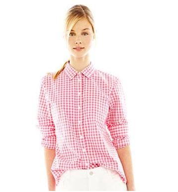 Joe Fresh gingham shirt