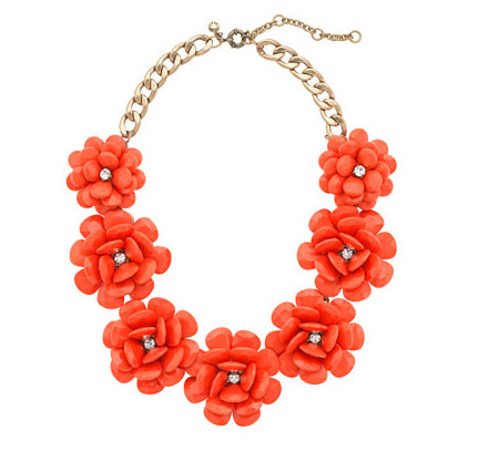 J.Crew Rose Beaded Necklace