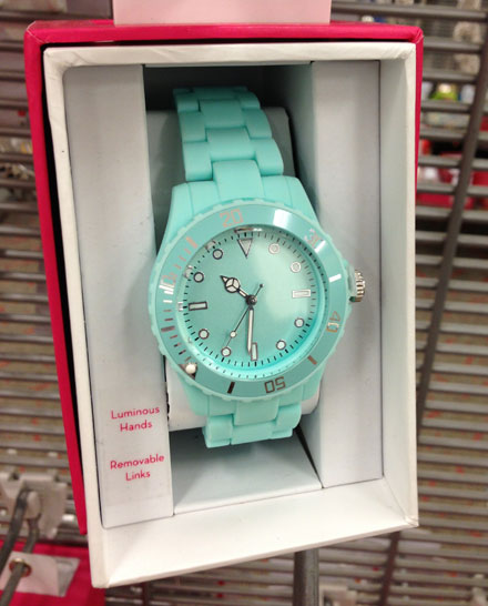 Mint Green Watch at Target $14.99