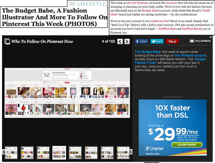 The Budget Babe press: Huff Post Lifestyle feature