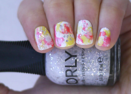 How to create watercolor nails without water