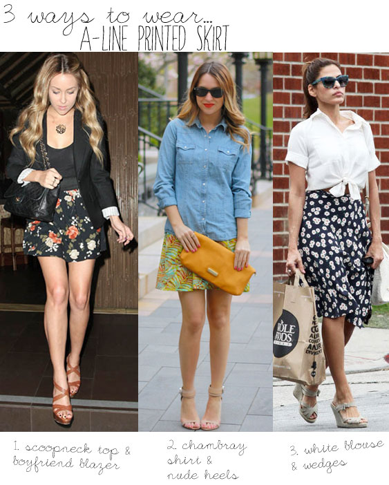 Ask BB: How to Wear a Printed A-Line Skirt - The Budget Babe ...