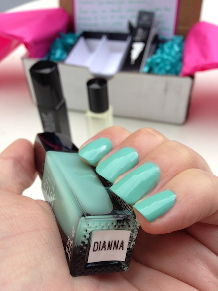 'Dianna' a mint blue nail polish by Julep, named after The Budget Babe blogger Dianna Baros