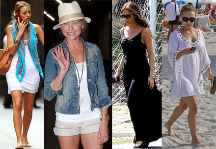 Celebrities' casual summer style
