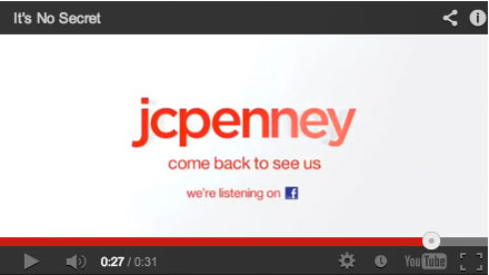 JCPenney begs shoppers to come back in a new TV commercial