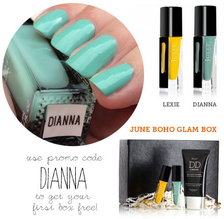 Use code DIANNA to get your first Julep Maven subscription box free.