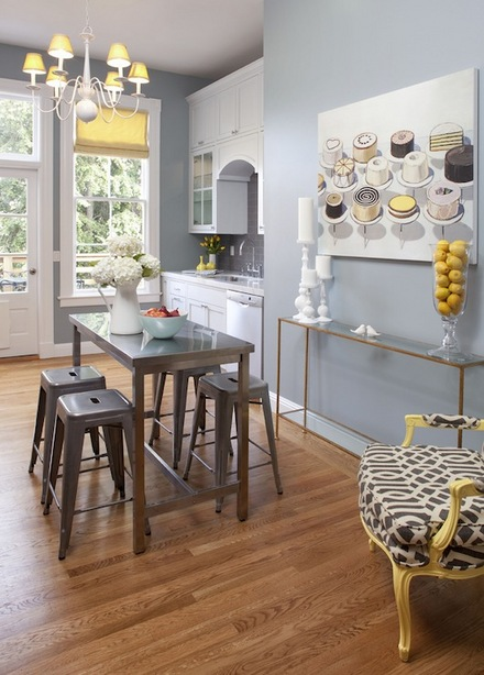Stylish kitchen with Marais Stools
