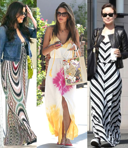 Celebs rocking the maxi dress trend