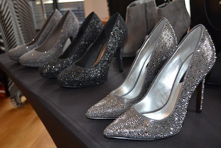 Sparkly heels at the Wallis Fall 2013 fashion preview