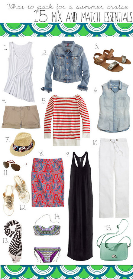What to pack for a summer cruise: 15 Mix and Match Essentials