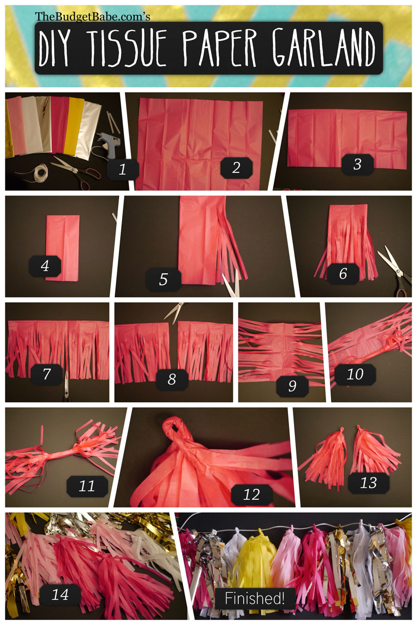 Diy Tissue Paper Tassel Garland The Budget Babe
