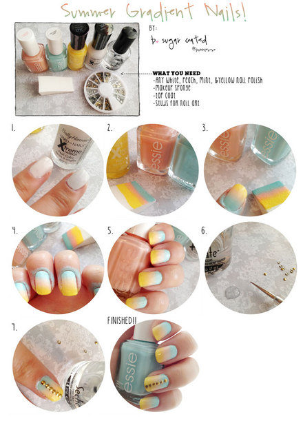 Summer Gradient Nails Tutorial