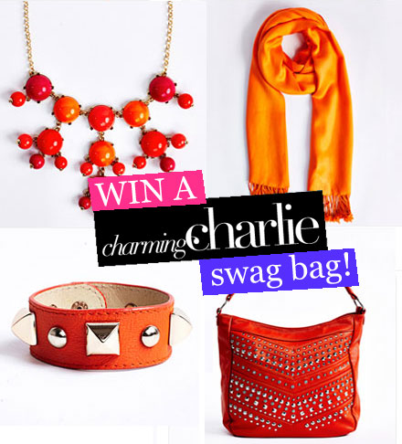 Win a Charming Charlie swag bag!