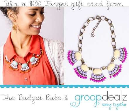 Win a $100 Target gift card from The Budget Babe & Groopdealz.com