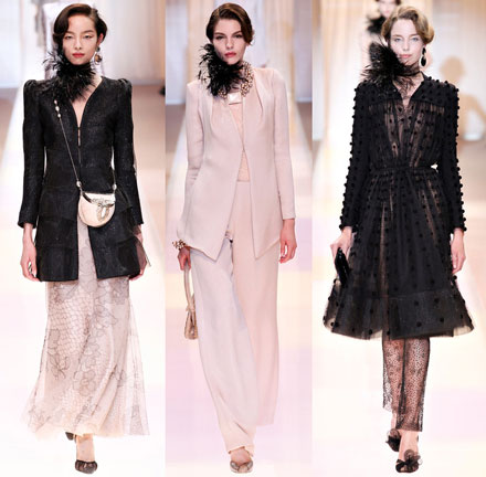 Armani Prive Fall Couture 2013 runway looks