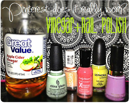 Pinterest: Does it work? Vinegar and nail polish