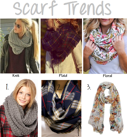 Fall Scarf Trends