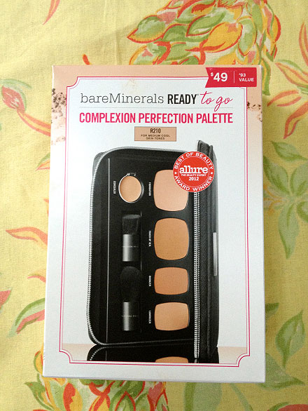 Beauty on the go: Travel size bareMinerals Ready to Go Complexion Perfection Palette Review