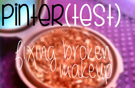Fixing broken makeup