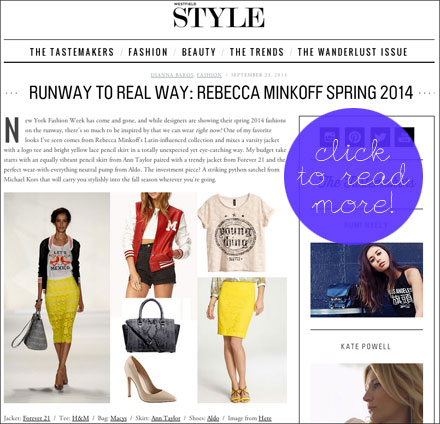 Rebecca Minkoff Runway to Real Way
