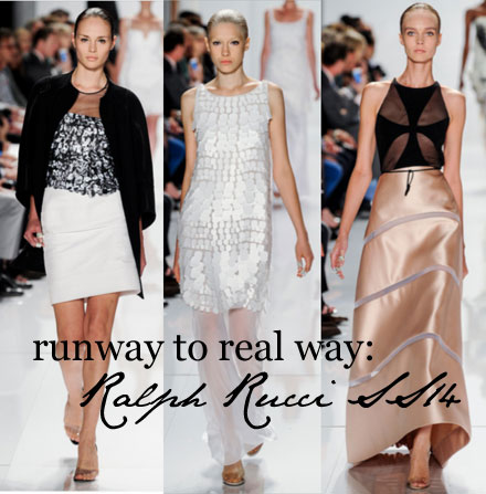 Runway to real way: Ralph Rucci Spring 2014