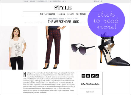 Westfield Style Blog: The Weekender