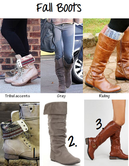 Fall boots trends as seen on Pinterest
