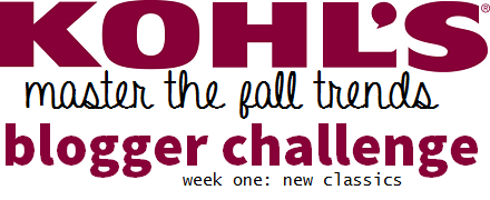 Kohls Master the Fall Trends Challenge: Week One