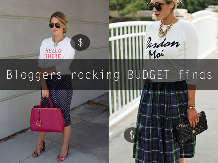 See how your favorite fashion bloggers are making budget finds look like a million bucks.