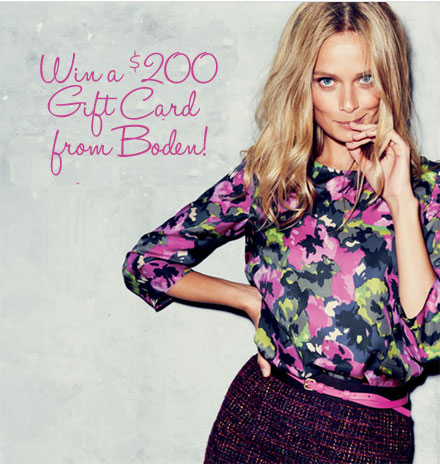 Win a $200 gift card from Boden and TheBudgetBabe.com!