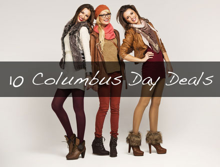 10 Best Columbus Day Fashion Deals