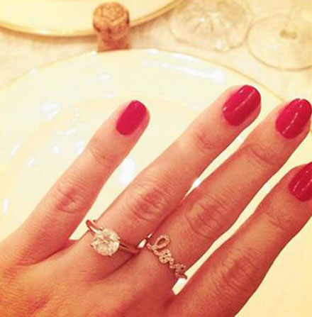 Lauren Conrad's engagement ring and Love ring