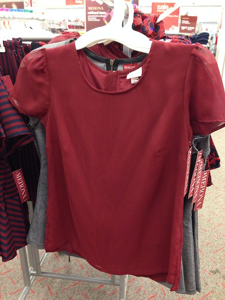 Target fashions in stores now