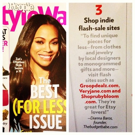 The Budget Babe shares money saving tips in the November 2013 issue of People StyleWatch Magazine.