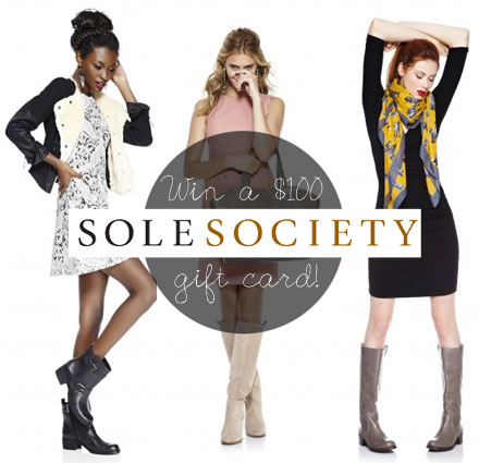 Win a $100 Sole Society gift card! Enter at thebudgetbabe.com