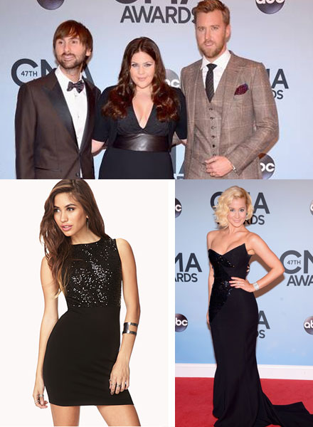 Black dresses at the CMAs