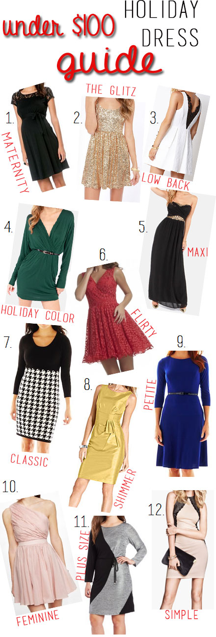 Holiday Dress Guide Under $100