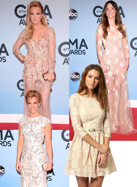 Nude dresses shine at the CMAs