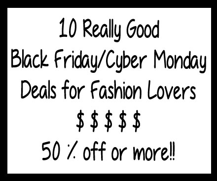 Black Friday/Cyber Monday Deals: Save 50% or more!