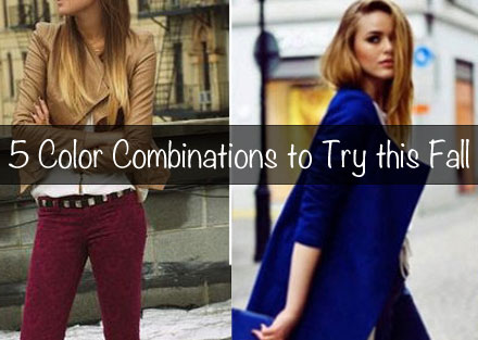 5 Color Combinations to Try this Fall