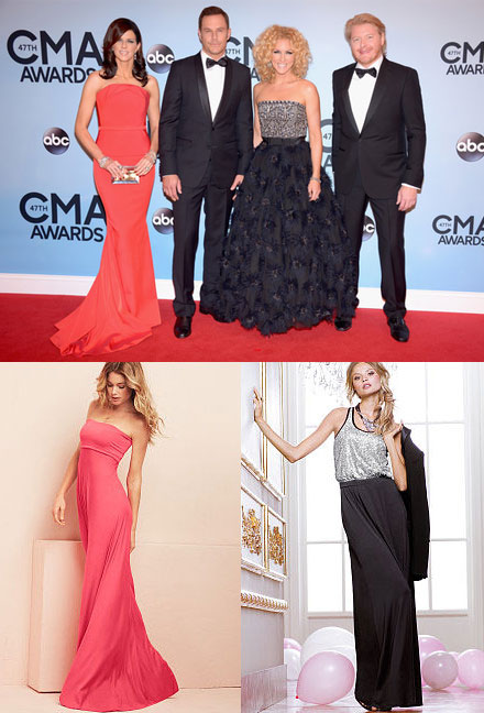 Long dresses at the CMAs