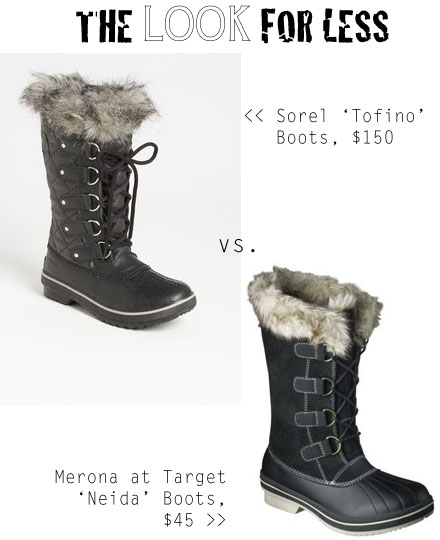 The look for less: Sorel Tofino Boots
