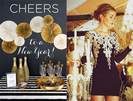 Weekly Link Round Up: Champagne Glitter Bottles and Party Dresses