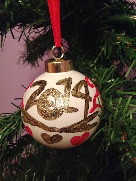 DIY painted Christmas tree ornaments